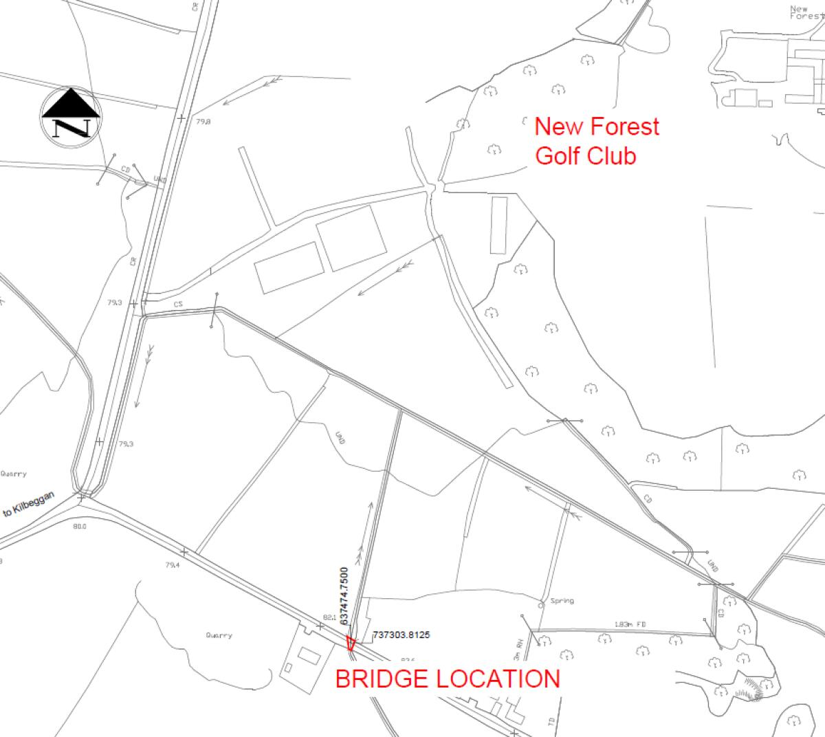 UPDATE: MAP SHOWING LOCATION OF FAILED BRIDGE NEAR