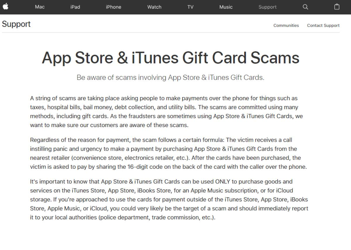 Garda appeal – iTunes gift cards scam | Westmeath Examiner